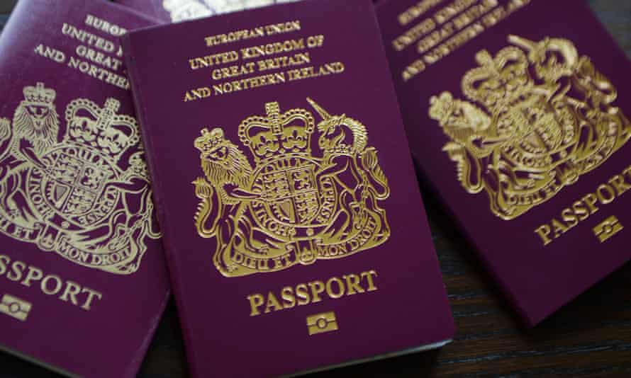 British passports, which are valid for 10 years.