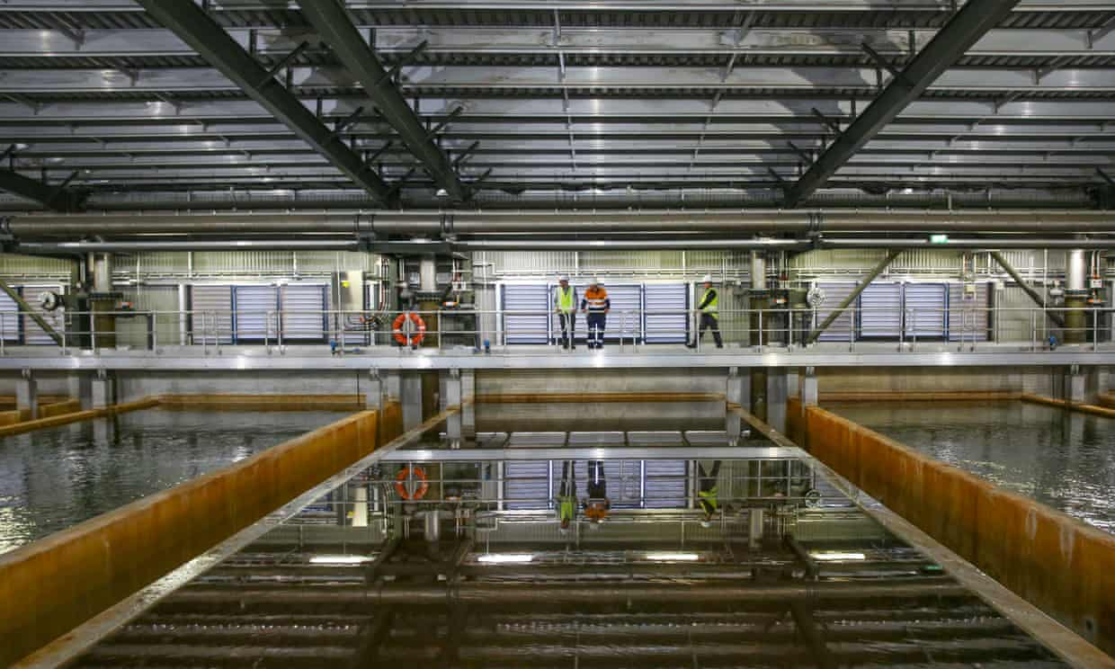 Sydney's desalination plant was switched on after dam storage dropped below 60% on Sunday