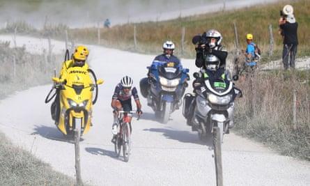 Australia's Richie Porte during the 2020 Tour de France stage 18 from Méribel to La Roche sur Foron