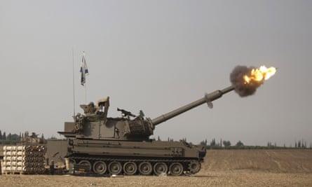 An Israeli artillery piece