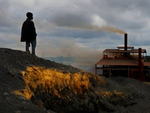 """The huge lead and zinc mine and smelter in Kabwe closed in 1994 but the six million tonnes of slag and tailings remain, including Black Mountain. """"Landscapes do well to describe the immediate scenes, but the gut-wrenching reality of the human toll is more difficult to describe in photographs,"""" says photographer Larry Price."""