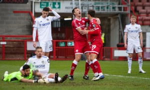 Jordan Tunnicliffe of Crawley Town scores the third.