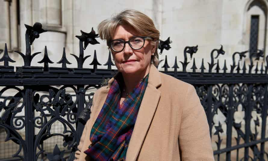 British lawyer Jacquelyn MacLennan, who is a Belgian resident, outside the high court in central London.