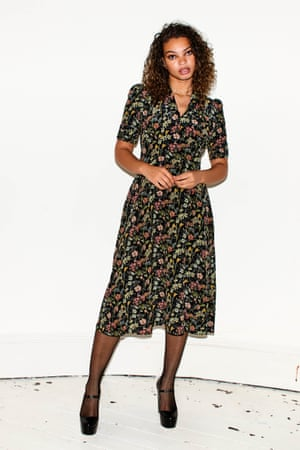 Prints from Pearl Pearl Lowe's vintage inspired midi-dresses are made to flatter. £245, pearllowe.co.uk
