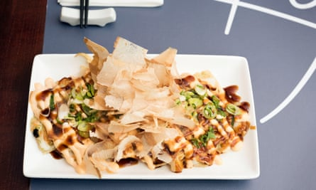 Squid okonomiyaki: 'A lot of textures and flavours on one plate.'