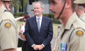 Bill Shorten at Lavarack Barracks in Townsville