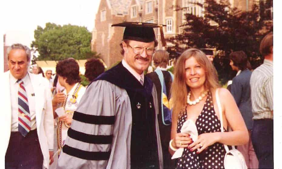 Koecher with wife Hana at Wagner College in 1972.