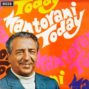 Mantovani Today Annunzio Mantovani was a fascinating character, one of the most prolific and biggest selling contributors to the Decca catalogue. He was the first British artist to sell over a million copies of a single album in stereo. In this 1970 album you can see that he's sort of getting hippier. He would always be in a suit and bowtie on his covers, and here he is – it's hardly a hippie outfit, but the roll-neck and the jacket make him look slightly more informal