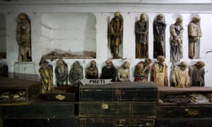 Mummified bodies in the Capuchine catacombs, Palermo, Sicily