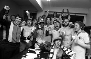 Watford celebrate promotion in 1979