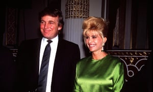 Donald and Ivana Trump in 1991. The real estate mogul reportedly posed as a spokesman for himself to leak details of their divorce to a celebrity gossip magazine.