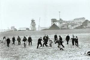 Miner's Strike football match, Nottinghamshire, 1984