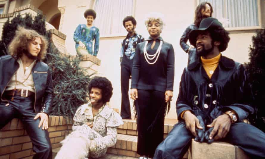 Dazzling and prescient … Sly Stone, third from left, and the Family Stone.