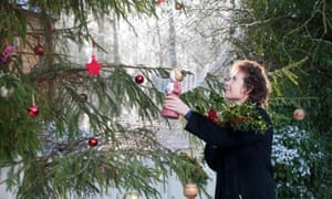 Jeanette Winterson decorates her Christmas tree.