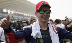 Jorge Lorenzo is seven points behind Rossi with 25 on offer for a win.