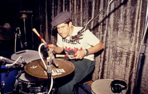 Mike D in the studio in Atwater Village, Los Angeles, 1990.