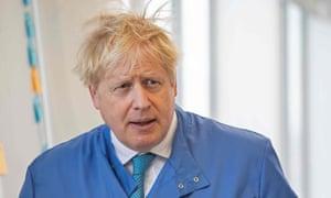 Boris Johnson on a visit to Bedford Technology Park.