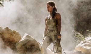 More serious and sensitive … Alicia Vikander as Lara Croft.