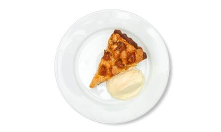 'A deep-filled beauty': mirabelle almond tart.