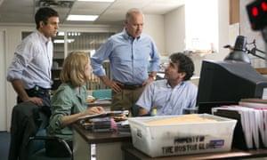 Mark Ruffalo, Rachel McAdams, Michael Keaton and Brian d'Arcy James in Spotlight