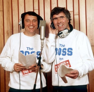Graham Taylor and Bobby Gould making a record for Sport Aid in 1988