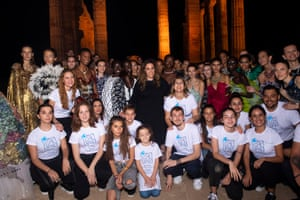 Children with whom the charity Elpida is associated with joined patron Katrantzou on the catwalk.