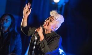 Devotional zeal … Emeli Sandé sings songs from new album Long Live the Angels.