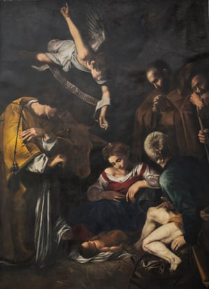 'You'd need two people with a ladder to get it' … a recreation of the stolen Caravaggio Nativity.