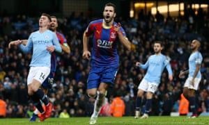 Luka Milivojevic of Crystal Palace celebrates after scoring his team s  third goal against Manchester City. 0da32254a76b0