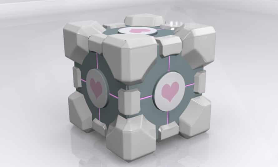 Portal weighted companion cube. So cute