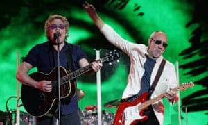 The Who at Glastonbury 2015.