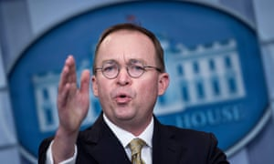 Mick Mulvaney is currently the director of the office of management and budget.