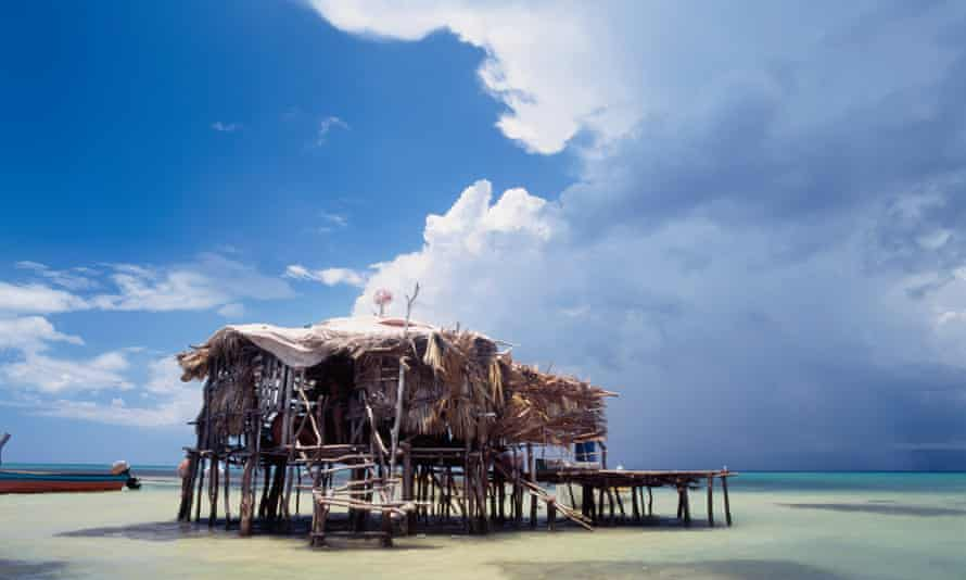 Strom clouds over the Pelican Bar.
