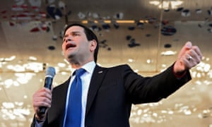 Marco Rubio holds a rally in downtown Dallas, Texas, the day after his aggressive performance in the final Republican debate before 12 states hold their primaries on Super Tuesday.