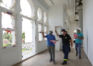 A team from the German Federal Agency for Technical Relief assist Lebanese engineers in assessing structural safety at Sursock Museum
