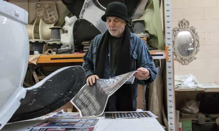 Ron Arad at work in his studio