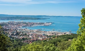 Views of Trieste and the Slovenian coast from the Strada Napoleonica.