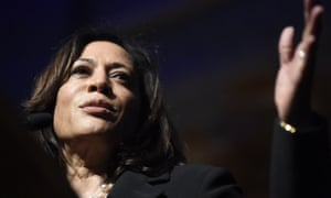 Kamala Harris said the tweets violated terms barring targeted harassment.