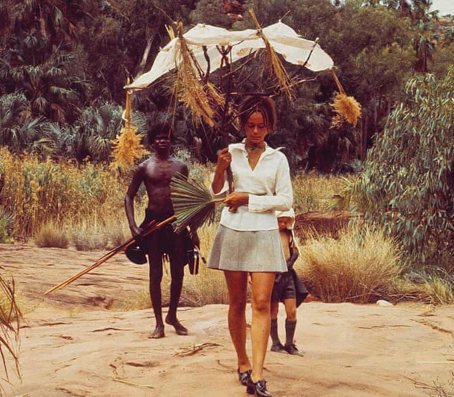 David Gulpilil, Jenny Agutter and Luc Roeg in Walkabout.