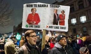 Anti-Donald Trump protest In London