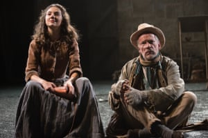 Threat and despair … Beth Cooke and John Conroy in the English Touring Theatre and Rose Theatre Kingston co-production of Translations in 2014
