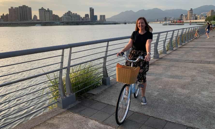 Helen Davidson exploring Taiwan by bike.