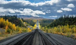 tundra in autumn on Dempster Highway through the Canadian Arctic