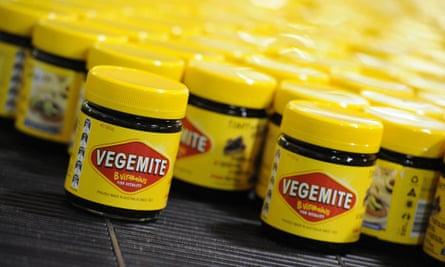 Vegemite rolling along production line