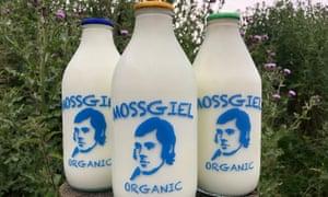 Mossgiel farm milk bottles