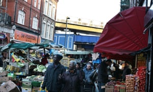 .<br>Brixton South London Market 05-01-2015 Photograph by Martin Godwin