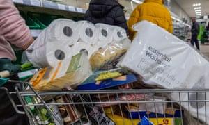 Panic buying in Waitrose, Balham