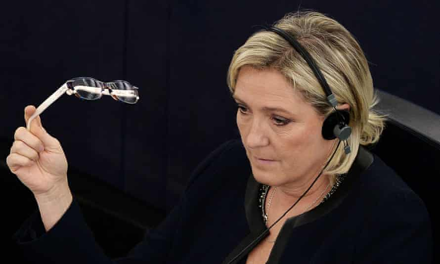 Marine Le Pen at the European parliament in Strasbourg