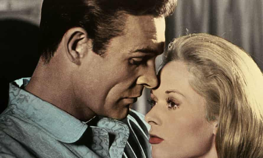 Explosive story … Sean Connery and Tippi Hedren in Marnie (1964).