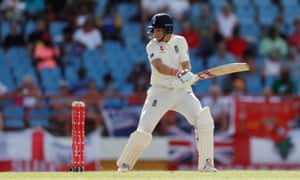 Joe Root loses his wicket caught off the bowling of Alzarri Joseph.